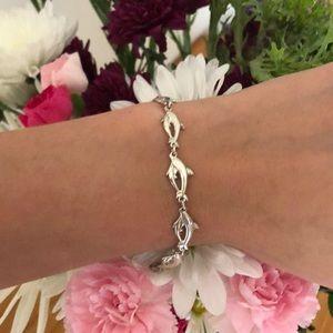 Jewelry - Sterling Silver Dolphin Kabana Bracelet .925